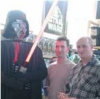Photo taken on holiday in LA at Downtown Disney (with Lego Darth Vader!) - September 2001